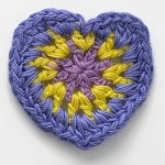 Heart Crochet Applique by PC, CR-DES-CH25